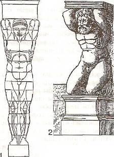 Почему колонны в виде мужских фигур называют атлантами 4 класс